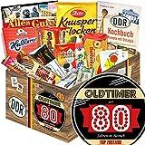 Oldtimer 80 + Süßigkeiten Geschenk DDR + für Oma Geburtstag