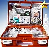 Erste-Hilfe-Koffer KITA incl.Hände-Antisept-Spray nach DIN 13157 für Betriebe + DIN/EN 13164 für KFZ - mit Verbandbuch & Wundreinigung