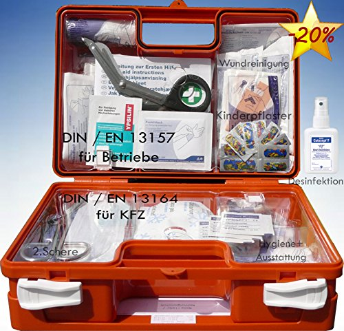 Erste-Hilfe-Koffer KITA inkl. Hände-Antisept-Spray nach DIN 13157 für Betriebe