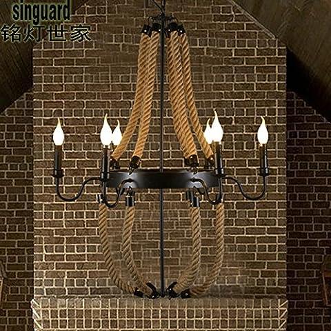 MSUXT lampade a sospensione Lampadari in ferro di nostalgia per