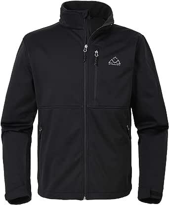 YSENTO Mens Softshell Fleece Lightweight Waterproof Jacket Winter Outdoor Ski Jackets Full Zip