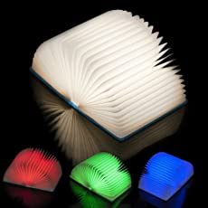 ENEM USB Rechargeable Book Shaped LED Table Night Light Lamp (Multicolour)