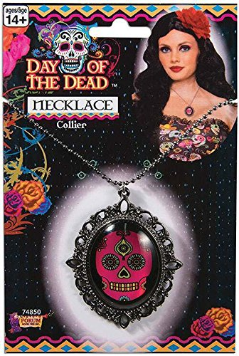 Forum Novelties 74850 Day Of The Dead Halskette, One size