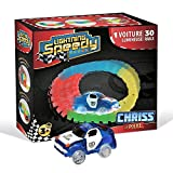 Voiture de police lumineuse CHRISS LA POLICE LIGHTNING SPEEDY et 30 rails luminescents