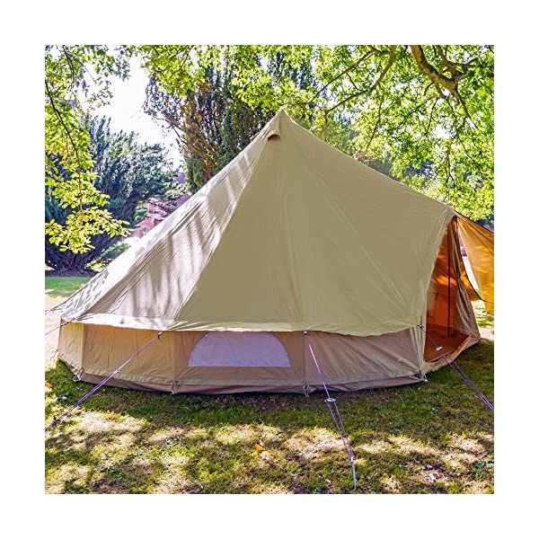 Boutique Camping 4m Sandstone Bell Tent With Zipped In Ground Sheet 3