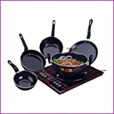 Flixbloom Kitchen Perfect Collections Set of 5 Pcs Induction Base Induction Bottom Cookware Set (Non-Stick), 5 - Piece…