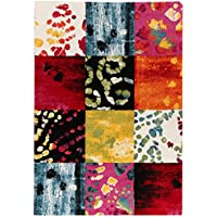 ABC Tappeti Alfombra Gallery Rojo//Multicolor 200 x 200 cm