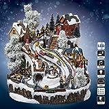 Villaggio di Natale pista di slitta–Luminoso, Vivace e musicale