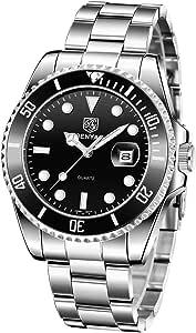 BENYAR Montre-Bracelet d'affaires de Mode d'hommes de Montres de Quartz d'analogue imperméable d'acier Inoxydable de Montres des Hommes
