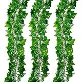 24 Stück Efeugirlande Künstlich Hängende Rebe für Hochzeit Party Garten Wanddekoration