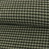 Mantelstoff Hahnentritt grau schwarz Wollstoff Modestoffe