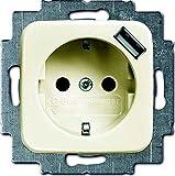 BuschJaeger Schuko USB-Steckdose creme 20EUCBUSB-212