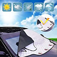 Parabrezza Copertura per parabrezza auto per rimozione neve invernale Parasole protezione per pellicole anti-furto con gel anti-furto (193 * 157 * 126 CM)
