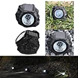 #10: Ascension ® Solar Rock Stone Lamp 4LED Decorative Landscape Path Light Waterproof Resin Rock Shape Night Lamp for Outdoor Garden Yard Lawn Pathway (Pack of 4)