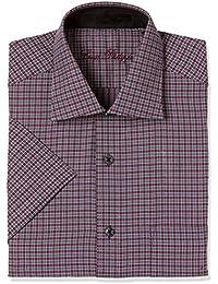 Louis Philippe Men's Geometric Print Regular Fit Formal Shirt