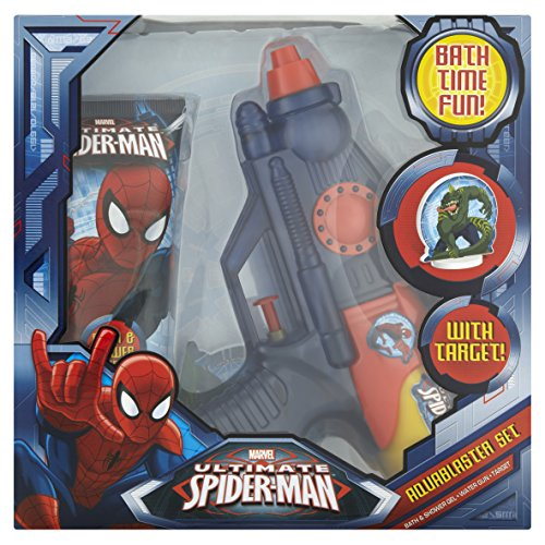 4 x SPIDERMAN Aqua Blaster Set 1Bagno&Shamp.Gel 150Ml+1Pist.Acq.