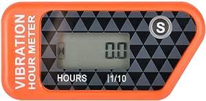 Runleader Digitaler Kabelloser Betriebsstundenzähler Mit Eigener Stromversorgung Vibrationsaktivierter Rücksetzbarer Job Timer Benutzersperre Für Den Generator Marine Lawn Mower Orange Baumarkt