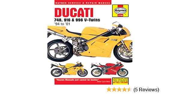 ducati 748 916 and 996 4 valve v twins service and repair manual rh amazon co uk