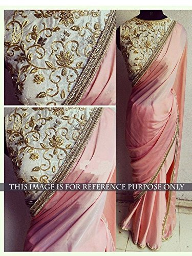 Saree World Saree For Women Party Wear Half Sarees Offer Designer Below 500 Rupees Latest Design Under 300 Combo Art Silk New Collection 2017 In Latest With Designer Blouse Beautiful For Women Party Wear Sadi Offer Sarees Collection Kanchipuram Bollywood Bhagalpuri Embroidered Free Size Georgette Sari Mirror Work Marriage Wear Replica Sarees Wedding Casual Design With Blouse Material  available at amazon for Rs.399