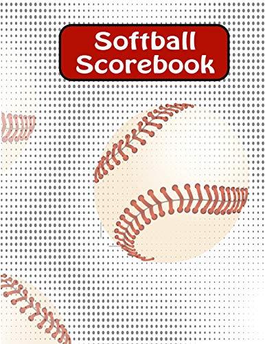 Softball Scorebook: Large Softball/ Baseball Scorebook: Side by Side Softball Scoring of 50 Games