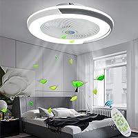 Ventilateur De Plafond Avec Éclairage Moderne Plafonnier De LED Au Plafonnier LED Réglable Vitesse Du Vent Dimmable…