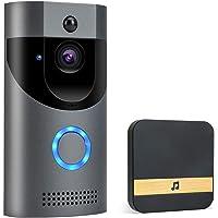 POWERGIANT Sonnette Vidéo sans Fil - Visiophone Caméra IP65 Étanche avec Conversation Bidirectionnelle Vision Nocturne…
