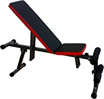 Kobo EB-1006Steel Exercise Bench (Black/Red)
