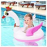 Baby Schwimmring & Schwimmhilfe in Schwan Optik – Baby-Schwimmreifen & Schwimmsitz Spielzeug für Reise, Pool & Freibad – für Säuglinge & Klein Kinder