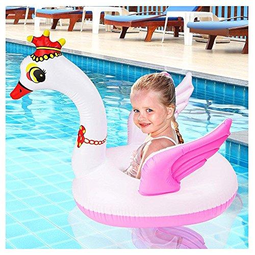 Bramble Baby Schwimmring & Schwimmhilfe Schwan - Baby-Schwimmreifen & Schwimmsitz Spielzeug für Reise, Pool-Schwimmtiere - Luftmatratze für Säuglinge & Kinder - Sommer Aufblasbar