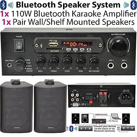 Amplificateur Chambre - 110W Bluetooth Amplificateur/A & 2x 100W Kit