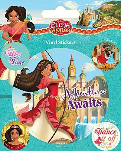 Preisvergleich Produktbild 1art1 102899 Elena Von Avalor - Adventure Awaits Poster-Sticker Tattoo Aufkleber 12 x 10 cm