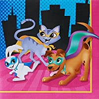 Superhero Pets Party Supplies - Lunch Napkins (20)