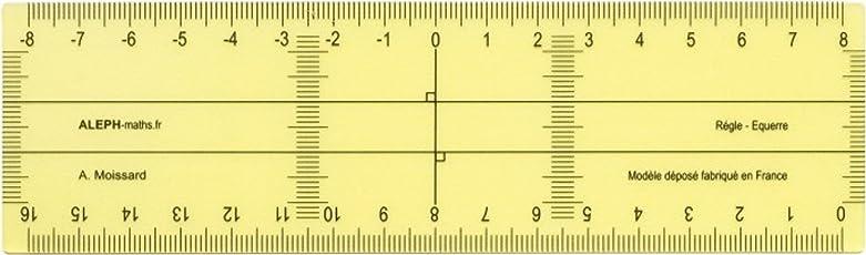 Aleph Righello-squadra, modello di piccole dimensioni, 16 cm