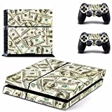Ps4 Console Best Deals - Dollar Pattern Skin autocollant pour PS4Playstation 4Console 2manettes Protector Skin