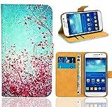 Samsung Galaxy Grand Neo / Grand Neo Plus Handy Tasche, FoneExpert® Wallet Case Flip Cover Hüllen Etui Ledertasche Lederhülle Premium Schutzhülle für Samsung Galaxy Grand Neo / Grand Neo Plus (Pattern 3)