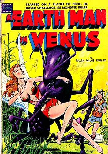 poster-comics-cover-avon-an-earth-man-on-venus-wood-vintage-wall-art-print-a3-replica