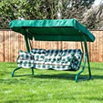 Swing Seat for 3 with Classic Green C...
