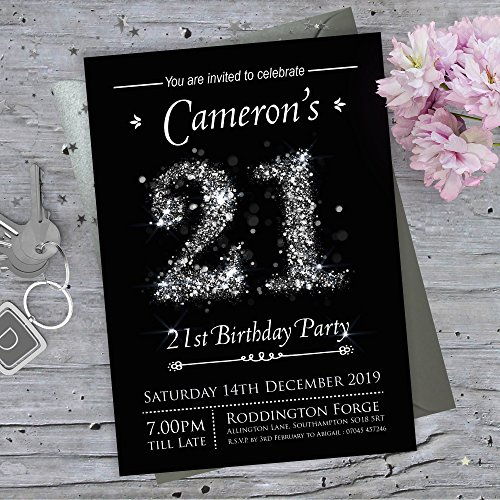 21st Birthday Invites: Amazon.co.uk