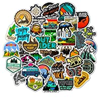 BOENTA Graffiti Stickers Skateboard Stickers Laptop Stickers Outdoor Adventure Travel Doodle Decals Trolley Case Skateboard Motorcycle Applique Removeable Stickers for Adults 50 PCS