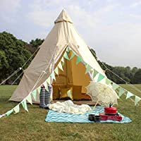 AIRWAVE Glastonbury 4 Person Cotton Waterproof Wigwam Teepee Tent - Perfect for Glamping, Festivals 15