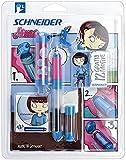 Schneider Schreibgeräte Füllhalter (Patronenfüllsystem) 4me KIDS Sofia für Linkshänder, L, blau