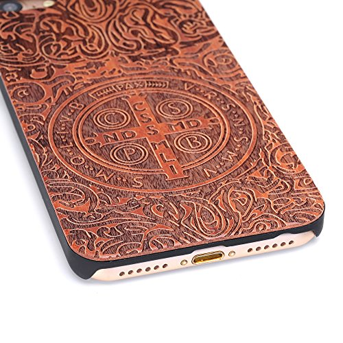 iPhone 7 Cover, G-i-Mall Ultra Sottile Vero legno Hard Back Wood Custodie Protettiva PC Bumper Cover Caso Per Apple iphone 7 4.7 Pollice Smartphone Shell - Wooden Cover#7 Wood Skins #3