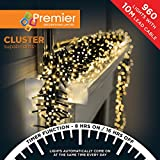 Premier Decorations - 960 Multi Action Cluster LED Lights with Timer - Warm White