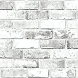 Debona Ziegel Muster Tapete Modern Metallisches Motiv Faux-effekt Realistisch - Weiß 6751