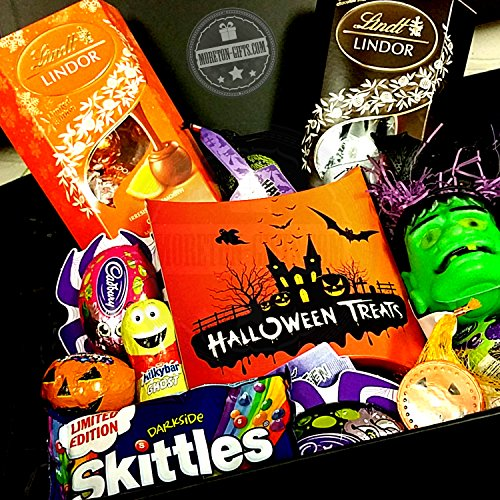 Halloween Mega Spook Buddies Trick Or Treat Hamper , Lindt, Darkside Skittles , Cadbury, Smarties , Milky Bar By Moreton Gifts