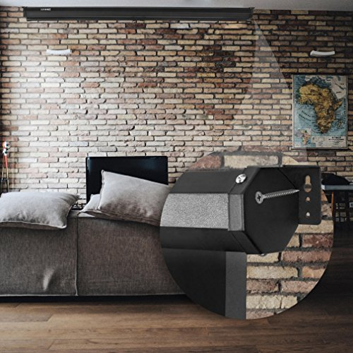 Duronic MPS 60 / 43 Projektor Leinwand / Rollo – Leinwand 100 Zoll / Nutzfläche 221×125 cm / Decke oder Wand montierbar - 5