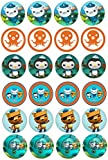 ND2 Octonauts cupcake toppers approx 4cm x 24 4cm On Icing