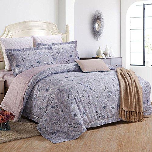 XYY Hauptdekorationen Baumwolle Gedruckt Twill Betten Satz von 4 Bettbezug, 1, King (Sham-bett-satz)