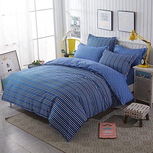 JSDJSUIT Bettwäsche gesetzt Blauer Streifen Bettwäsche-Sets König Königin Twin Suit Kid ErwachseneKissenbezüge Bettlaken-König 4 stücke - Königin Camouflage Blatt