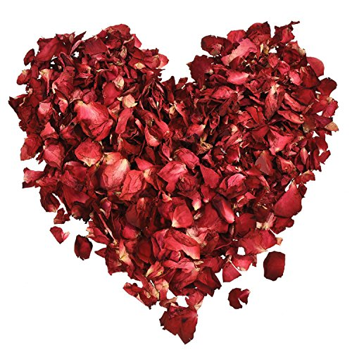 Hestya 100 grammi rose secchi petali rosa rosso fiore rosa petalo per bagno pediluvio mastrimonio confetti artigianato accessori, 1 sacchetto